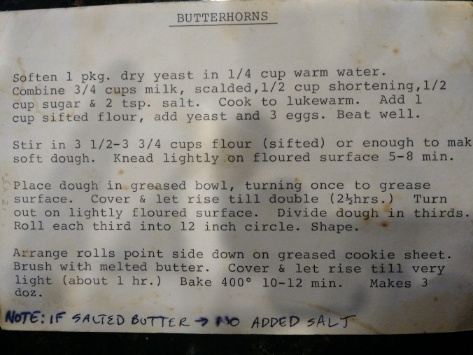 mom's rolls recipe