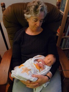 Nana and newborn grandbaby