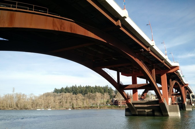Under the Sellwood Bridge