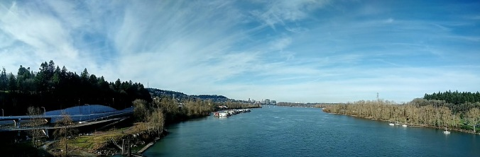 North view from Sellwood Bridge
