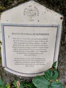 Balch historic marker