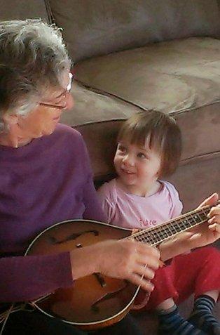 Grandkid musical bonding