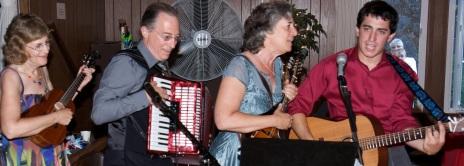 Family band at wedding