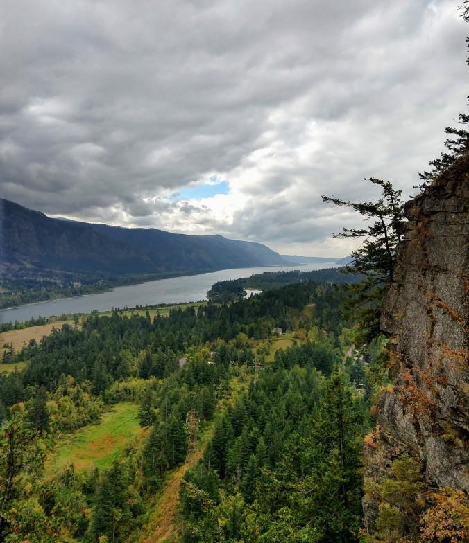 Looking west toward Portland