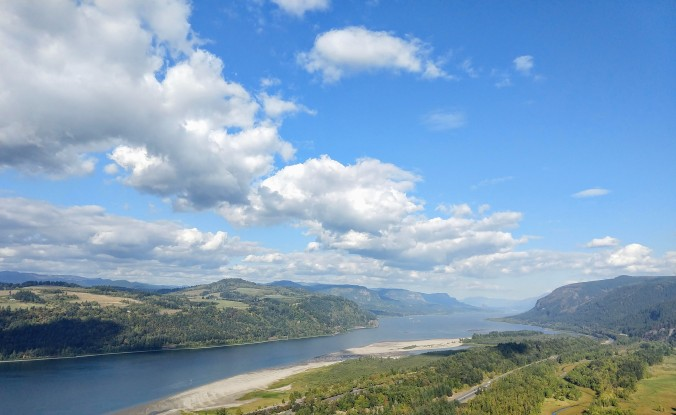 Eastward view of the Columbia Gorge
