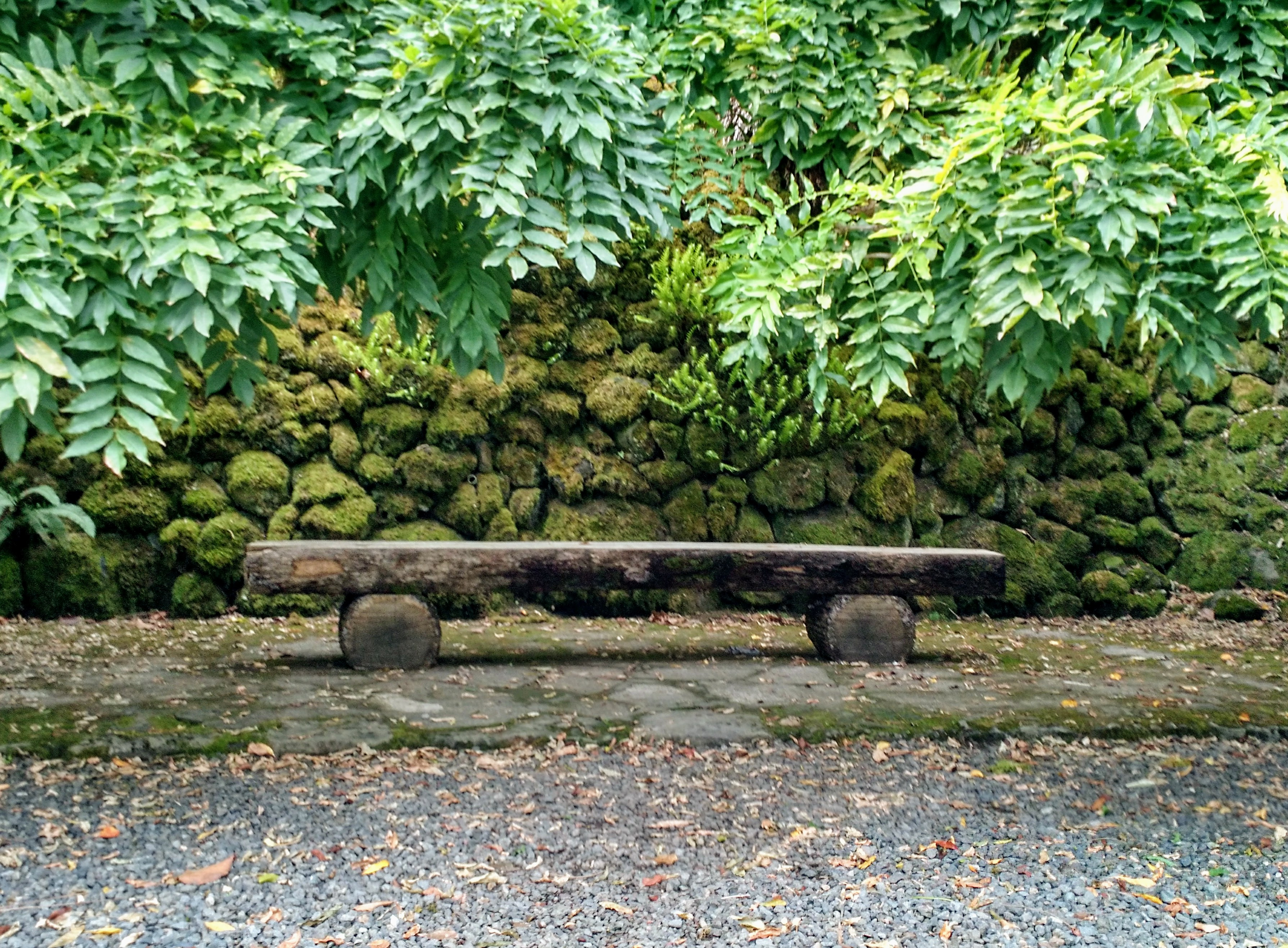 bench in alcove