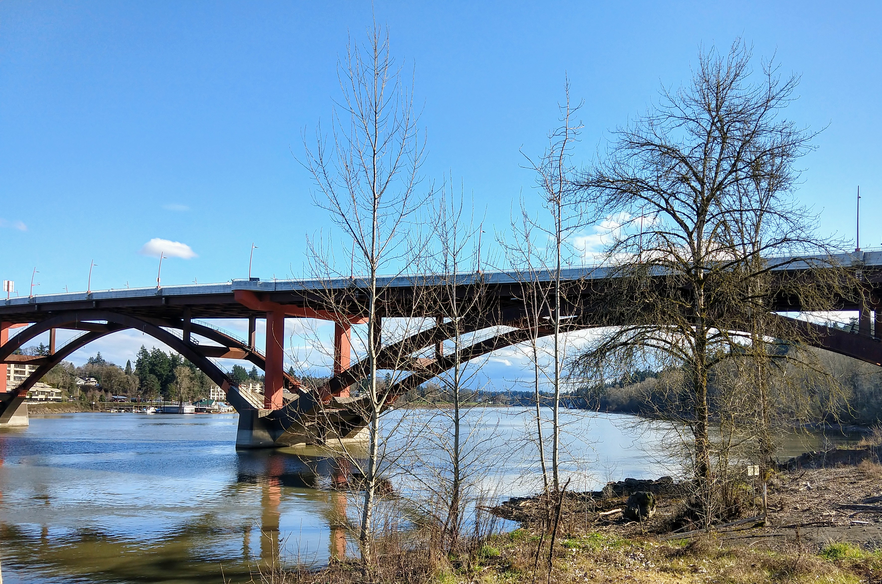 Sellwood Bridge, looking south