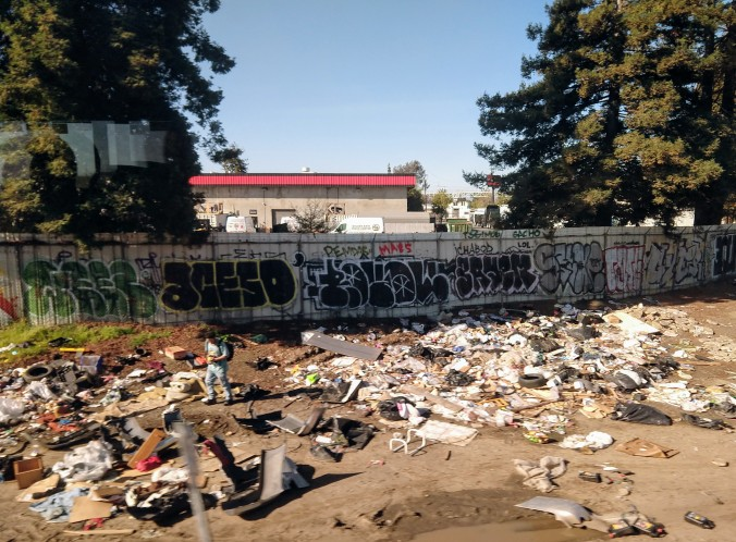 Oakland railside camp
