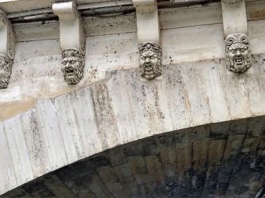 Pont Neuf stone masks