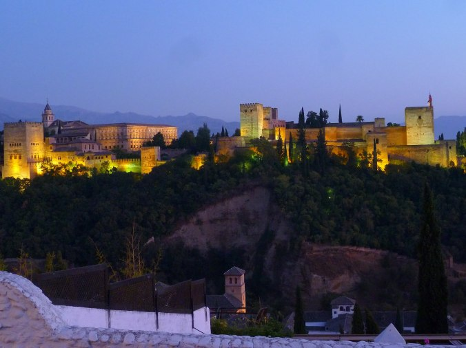 Alhambra at sunset, by Alan