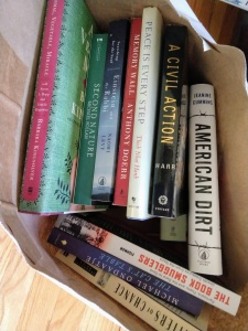 Fabulous bag of books delivered by a friend!