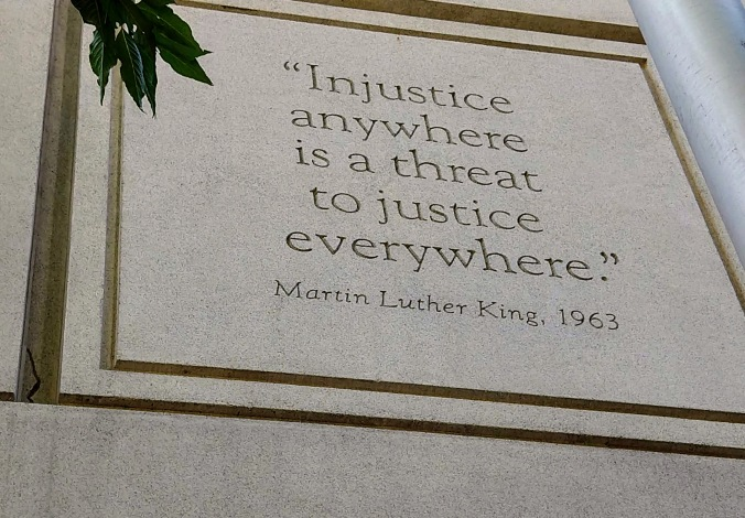 MLK quote on the Justice Center