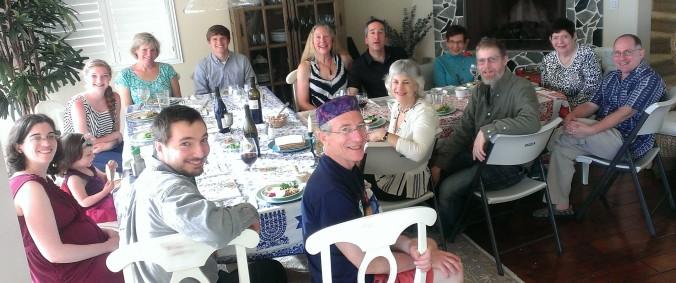 Beach house Seder, 2014