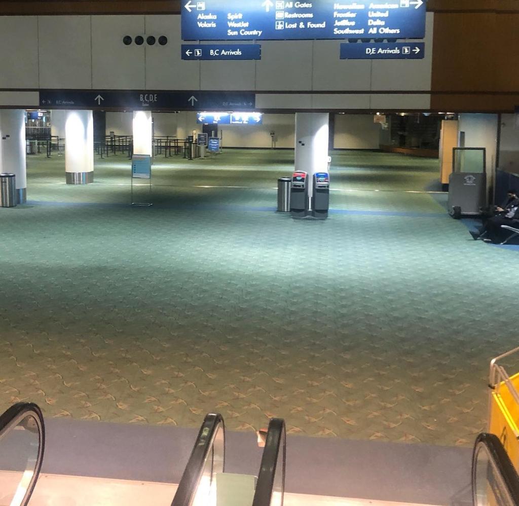 empty Portland airport